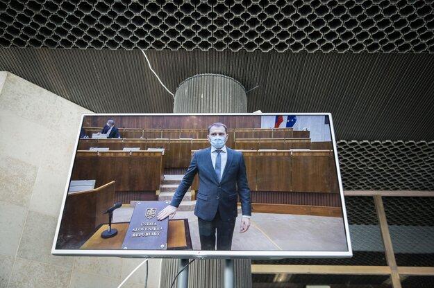 20. marec 2020. Igor Matovič počas sľubu poslanca počas ustanovujúcej schôdze NR SR.