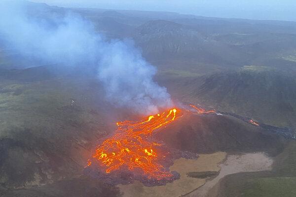 Výbuch vulkánu na Islande.