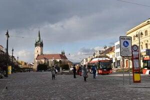 Centrum mesta Prešov.
