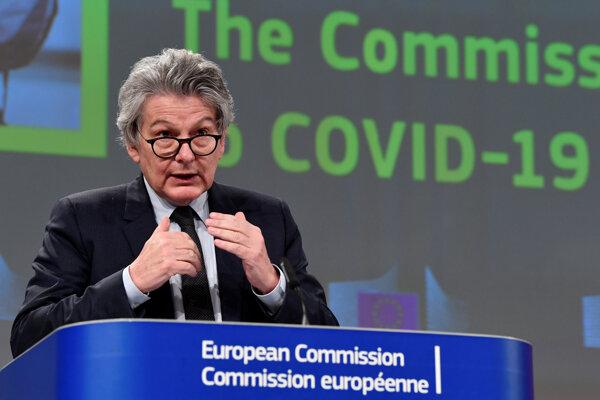 Eurokomisár pre vnútorný trh Thierry Breton.