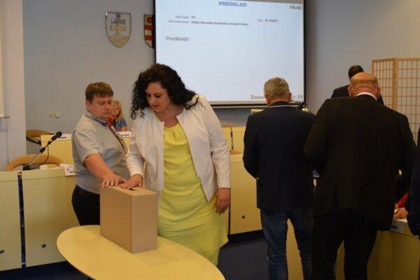 Svetlana Pavlovičová počas voľby hlavného kontrolóra v roku 2019.