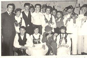 Hradnianski ochotníci 60-te roky.