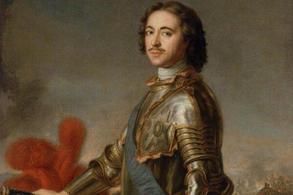 Portrét Petra I. Veľkého od francúzskeho maliara Jeana-Marca Nattiera z roku 1717 zo zbierok petrohradskej Ermitáže.