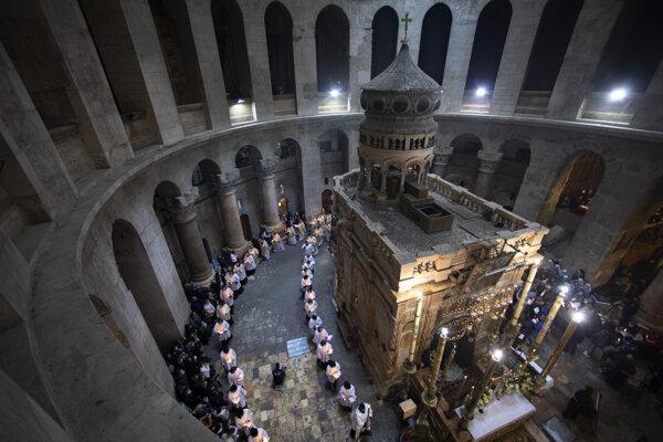 Bazilika Božieho hrobu v Jeruzaleme.