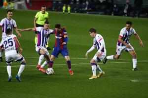 Argentínsky futbalista Lionel Messi v zápase proti Valladolidu.