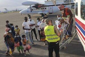 Evakuácia obyvateľov mesta Palma, ktoré obsadili stúpenci Islamského štátu.