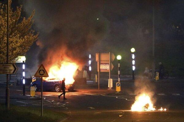 Požiar v Belfaste