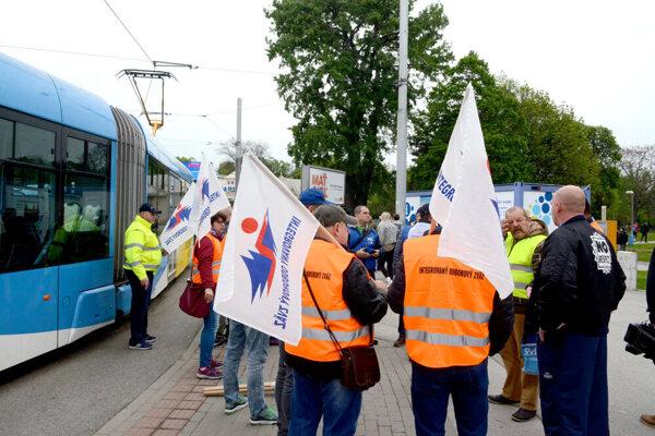 Štrajk zamestnancov MHD v minulosti.