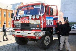 Tatra 815 4x4 Rally Dakar pred odchodom do novej expozície.