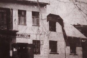 Časť budovy Potravného družstva v roku 1935
