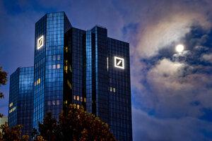 Budova Deutsche Bank vo Frankfurte nad Mohanom.