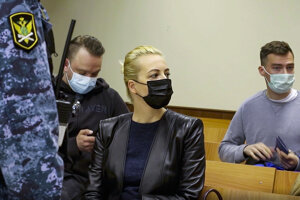 Manželka lídra ruskej opozície Alexeja Navaľného Julija Navaľná.