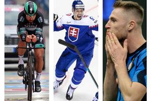Máj 2021 - Peter Sagan na Giro d'Italia, Slovensko na MS v hokeji a Milan Škriniar v boji o taliansky titul.