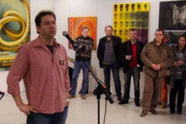 Prítomným sa prihovoril aj nitriansky umelec Karol Zbyšo Felix.