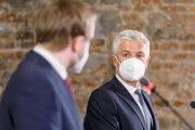 Minister zahraničných vecí Českej republiky Jakub Kulhánek a minister zahraničných vecí a európskych záležitostí SR Ivan Korčok.