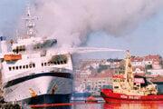 Trajekt Scandinavian Star pohltili plamene 7. apríla 1990.