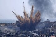 Bombardovanie Gaza City.