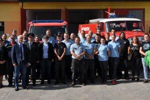 Námestovskí dobrovoľní hasiči.