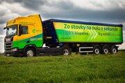 Pilotný projekt Biojazda.sk testuje ekologický pohon kamióna na 100 % bionaftu.