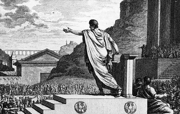 Prvý zákon o systematickej distribúcii obilia občanom Ríma presadil ľudu Gaius Gracchus.