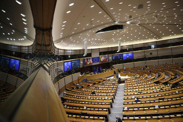 Európsky parlament počas rokovania.