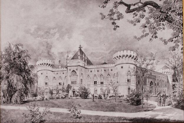 Thonetovci vlastnili kaštieľ vo Veľkých Uherciach až do druhej svetovej vojny (Fond Hornonitrianskeho múzea v Prievidzi)
