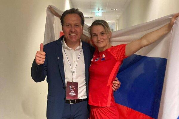 Nikola Rybanská sa teší z postupu do ďalšej fázy kvalifikácie.