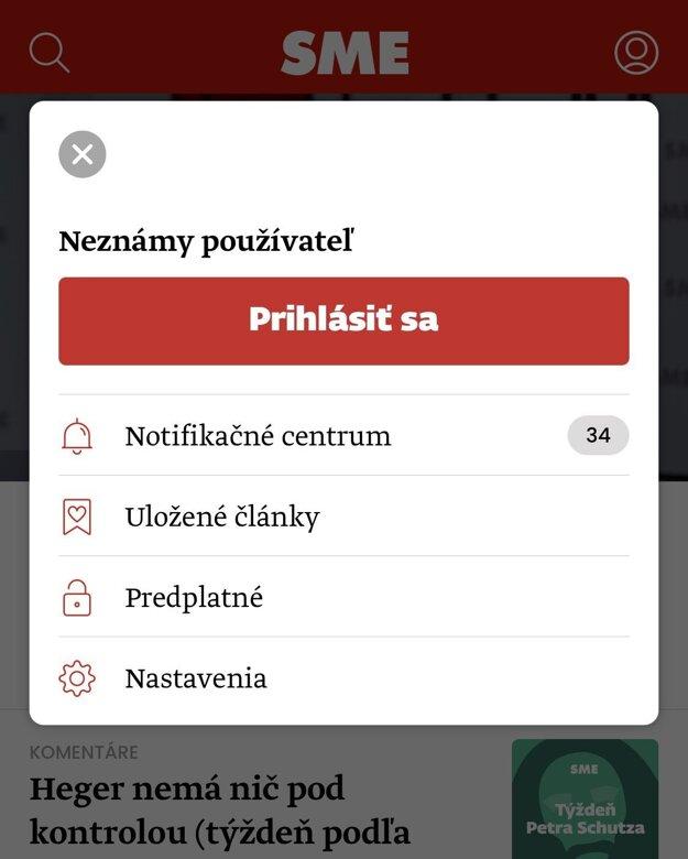Profil používateľa