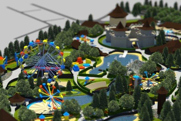 Vizualizácia projektu zábavného parku od Snow park Veľká Lomnica.