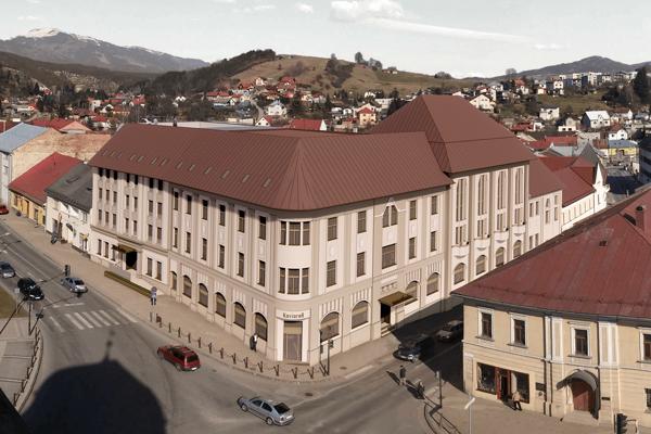 Vizualizácia hotela Ďumbier v Brezne.