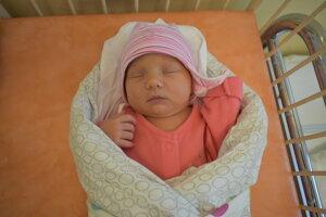 Miliana Bezeková (3570 g, 50 cm) sa narodila 15. mája Eve a Milanovi z Obsoloviec.