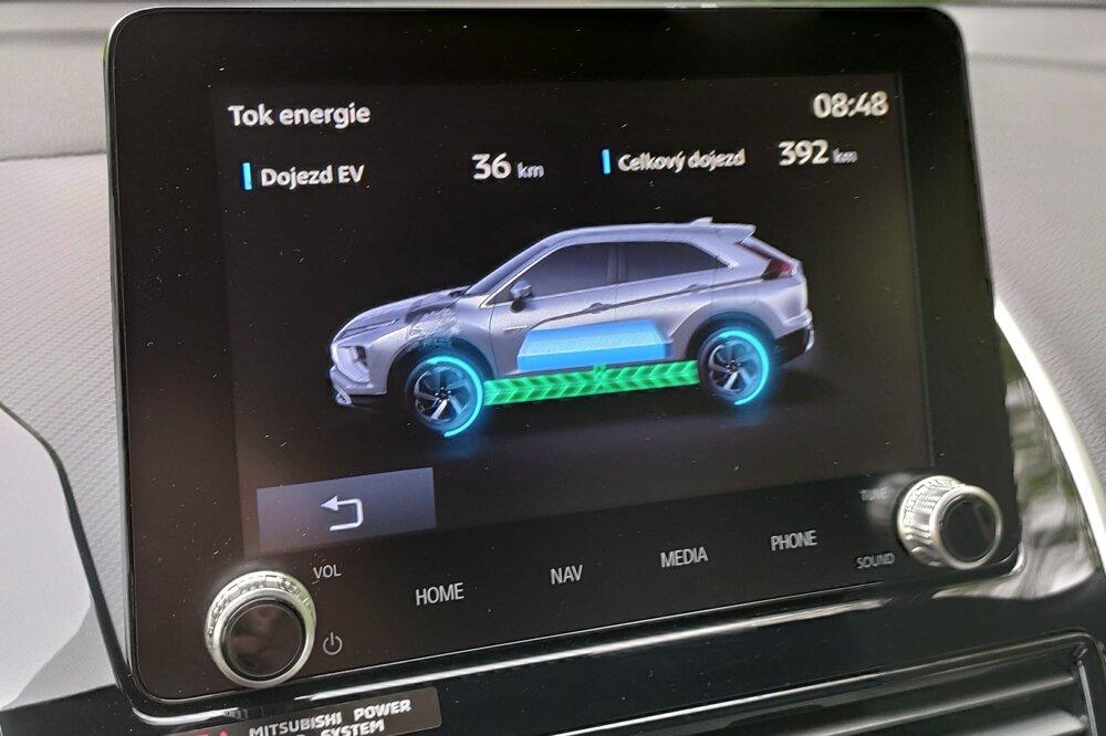 O toku energie a pohone sa vodič dozvedá animácii na obrazovke.