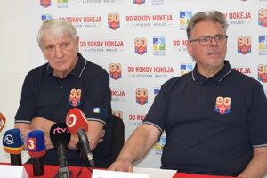 Výkonný riaditeľ Ján Michalík a športový riaditeľ Vlasto Škandera.