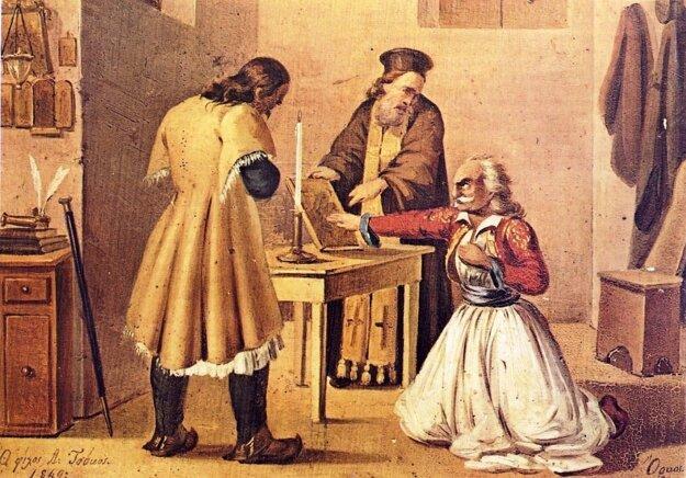Prísaha gréckeho revolucionára na bibliu