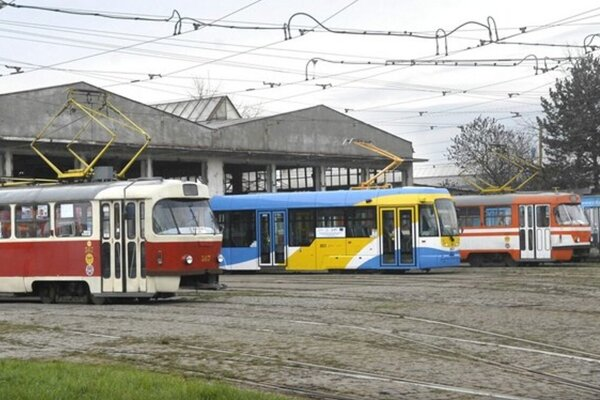 Električkové depo DPMK na Bardejovskej ulici.