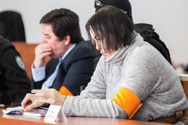 Alena Zsuzsová a Marian Kočner na pojednávaní na Špecializovanom trestnom súde.
