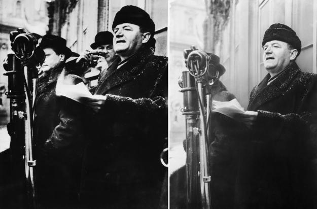 Tak ako zmizol Vladimír Clementis z fotografie s Klementom Gottwaldom, tak zmizol z učebnice dejepisu Rudolf Slánský.