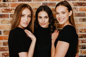 Finalistky Miss Slovensko 2021. Zľava: Sophia Hrivňáková, Barbora Minárová, Soňa Matiová.