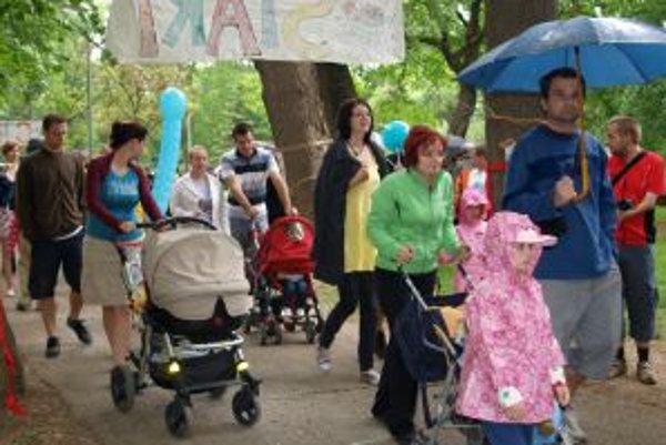 Tohtoročnú Míľu pre mamu si v nitrianskom parku prešlo 812 účastníkov.