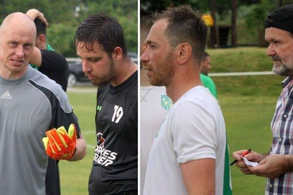 Veľký Cetín je pohárovým strašiakom Kolíňan, odkedy vyhrali Campri Cup (2019), dvakrát za sebou ich z neho vykopol vo štvrťfinále. Vľavo Straka a Grebáč, vpravo Tomiš a Višňovský.