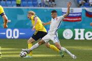 Martin Koscelník v zápase Slovensko - Švédsko na ME vo futbale (EURO 2020 / 2021).