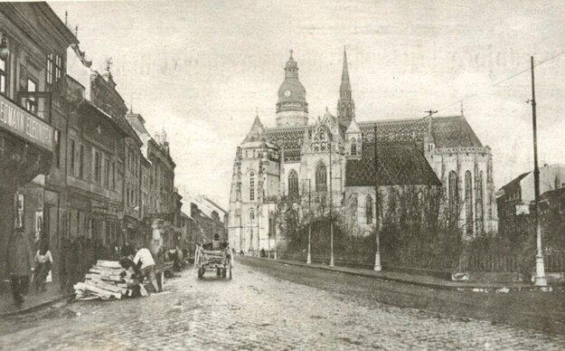 Pohľad na Košice pred sto rokmi.