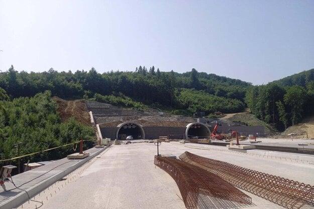 Stav prác na západnom obchvate Prešova v júni 2021.