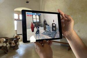 Aplikácia Hrady 3D funguje na princípe rozšírenej reality.
