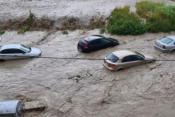 Nedávne záplavy v obci Jarabina.
