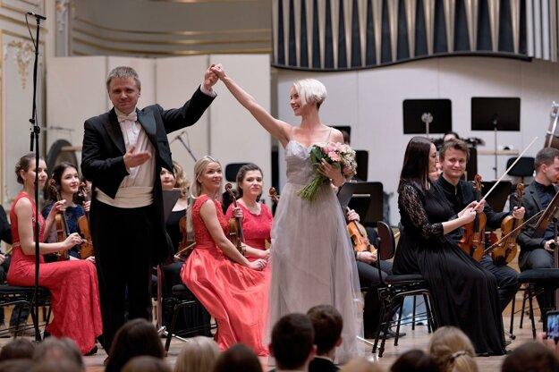 Kristína Smetanová na koncerte Symfonického orchestra VŠMU v bratislavskej Redute.