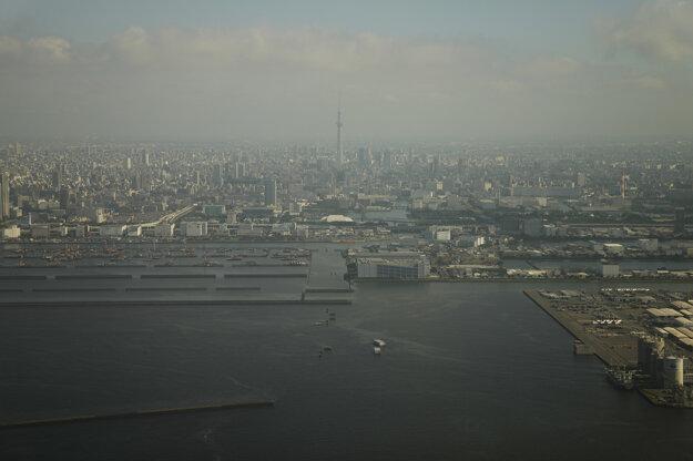 Pohľad z lietadla na japonskú metropolu.
