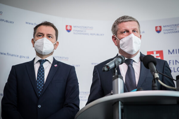 Minister financií Igor Matovič a minister zdravotníctva Vladimír Lengvarský