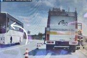 Vodič autobusu si natáčal nehodu.