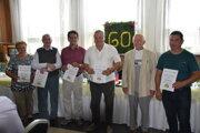 Dlhoroční členovia boli ocenení čestným uznaním.